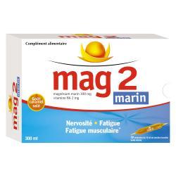 Mag 2 marin 30 ampoules de 10ml Boîte de 30 ampoules