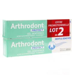 Arthrodont protect gel dentifrice fluore 2x75ml