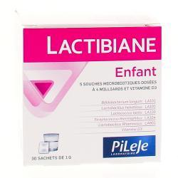 PILEJE Lactibiane probiotiques bébé et enfant 30 sachets