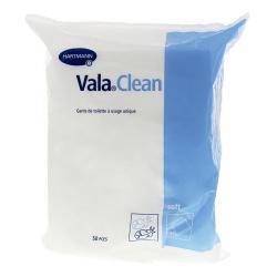 Vala Clean Gants de Toilette à Usage Unique - 50 gants