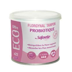 SAFORELLE Florgynal tampons probiotique normaux x 22