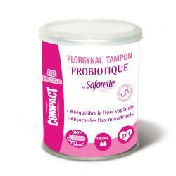 SAFORELLE Florgynal tampons probiotique avec applicateur normaux x 9