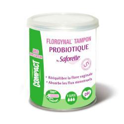 SAFORELLE Florgynal tampons probiotique avec applicateur super x 9