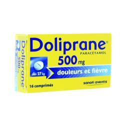 Doliprane 500 mg Boîte de 16 comprimés