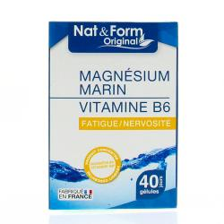 NAT& FORM MAGNESIUM MARIN B6 40 GELULES