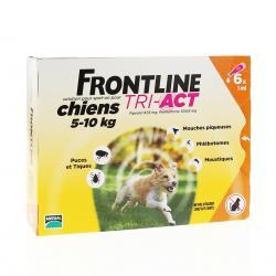 Tri Act Solution pour spot on pour chiens 5-10 kg - 1 ml x 6 pipettes