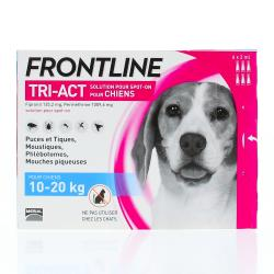 Tri-act chiens de 10 a 20kg pipettes 2ml x6