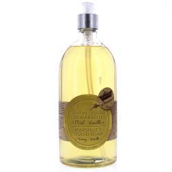 Savon de Marseille liquide parfum miel-vanille - 1 L