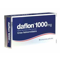DAFLON 1000mg Cpr pell Plq/18