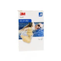 3M Bouchons d'Oreille Aquafit Adulte Boite de 1 paire