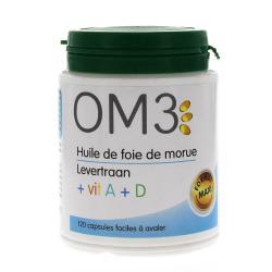 OM3 HLE FOIE MORUE VIT A+D CAP