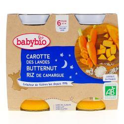 Bonne Nuit Pots Carotte Potimarron Riz dès 6 mois 2 x 200g