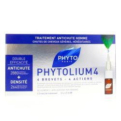 Phytolium 4 traitement antichute stimulateur de croissance Boîte de 12 fioles de 3,5ml