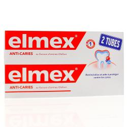Dentifrice protection caries - 2 tubes 125 ml