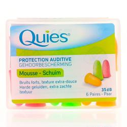 Protection auditive ousse 6 paires bouchons - 35 dB