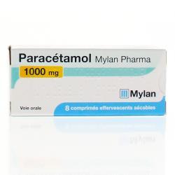 PARACETAMOL 1G MYL B/8 EFFERVESCENT