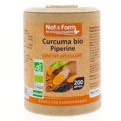 NAT&FORM ECO RESP Curcuma+Pipér Bio Gél B/200