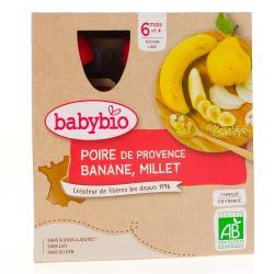 BABYBIO Alim inf poire banane millet 4/90g