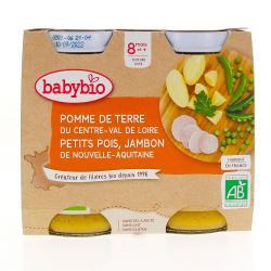 Menu du Jour Pots Pomme de Terre Petits Pois Jambon dès 8 mois 2 x 200g