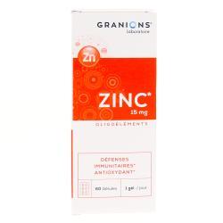 GRANIONS ZINC 15MG 60 GEL