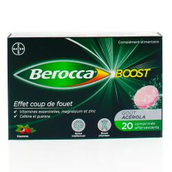 Berroca boost effervescent sans sucre Boîte de 20 comprimés